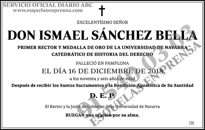 Ismael Sánchez Bella